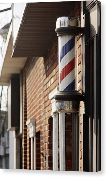 Barber Smithtown New York Canvas Print