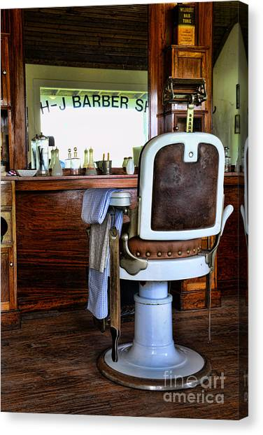 Barber - The Barber Shop Canvas Print