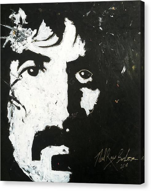 Frank Zappa Canvas Print - Barbosa Paints Zappa by Neal Barbosa