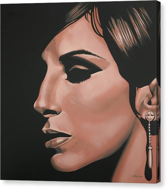 Concerts Canvas Print - Barbra Streisand by Paul Meijering