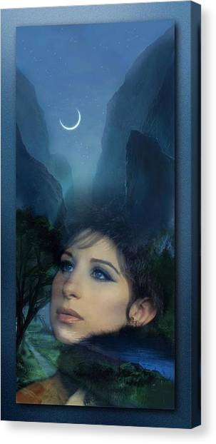 Barbra's Smiling Moon Canvas Print