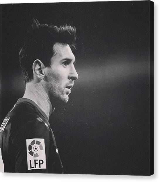 Lionel Messi Canvas Print - Barcelona And Argentina Forward Lionel by Matheo Montes
