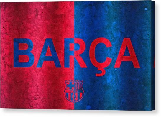 La League Canvas Print - Barcelona Football Club Poster by Florian Rodarte