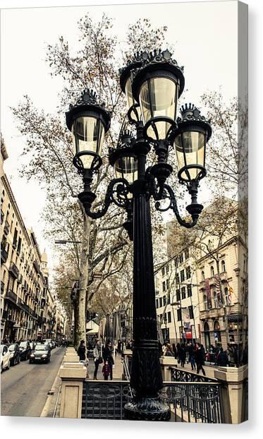 Barcelona - La Rambla Canvas Print