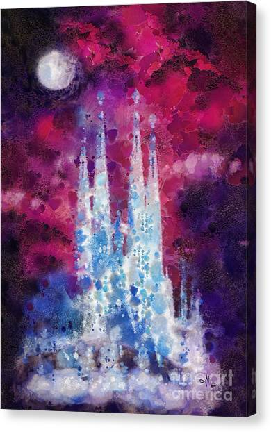 Mo Canvas Print - Barcelona Night by Mo T