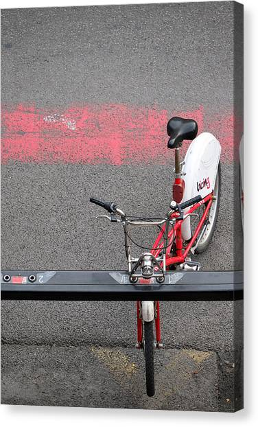 Barcelona Spain Bicycle Canvas Print