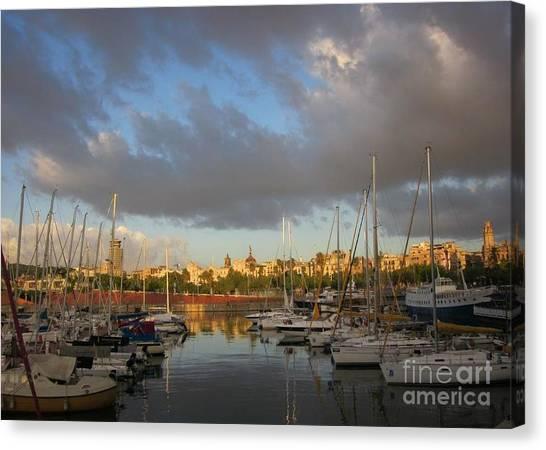 Barcelona Sunrise Canvas Print