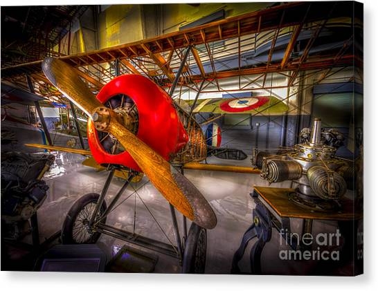 Biplane Canvas Print - Bare Bones by Marvin Spates