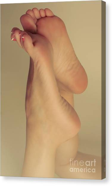 Bare Foot Beauty Canvas Print by Tos