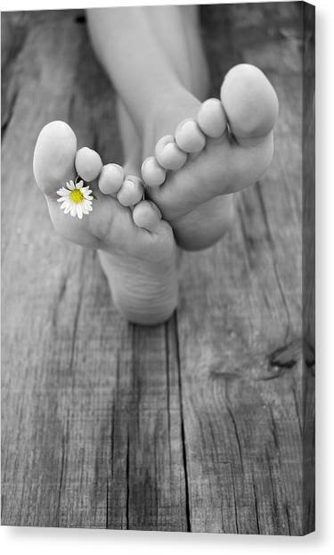 Feet Canvas Print - Barefoot by Aged Pixel