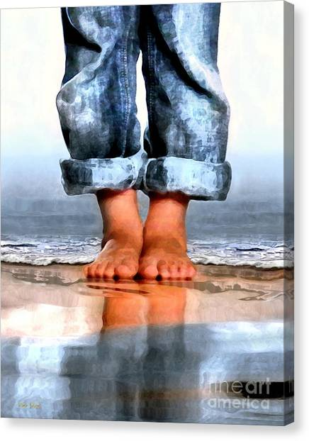 Barefoot Boy   Canvas Print