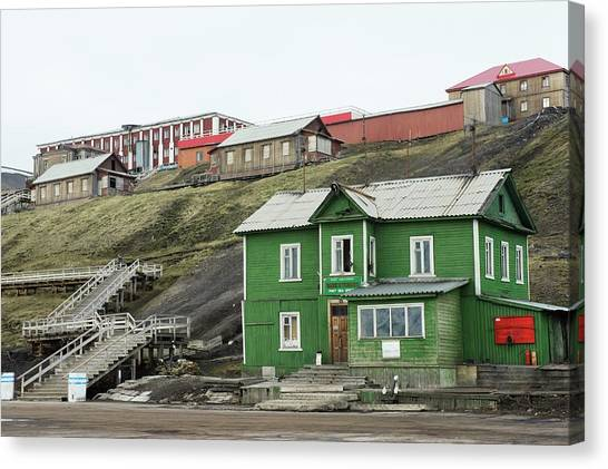 Barentsburg Canvas Print by Dr P. Marazzi/science Photo Library
