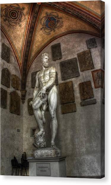 Giambologna's Oceano Canvas Print