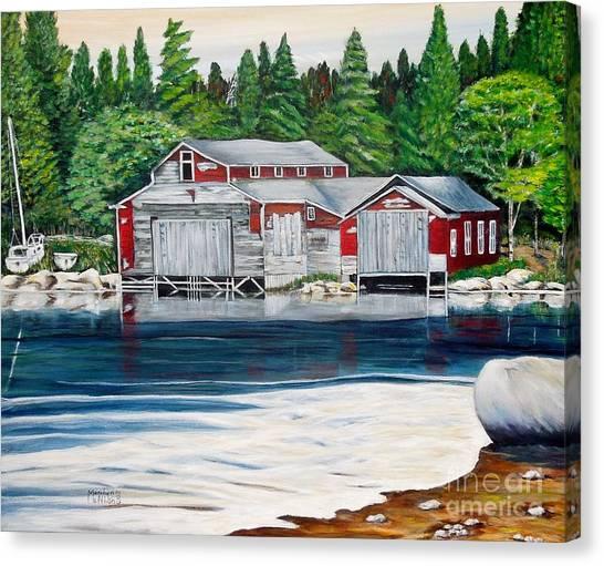 Barkhouse Boatshed Canvas Print