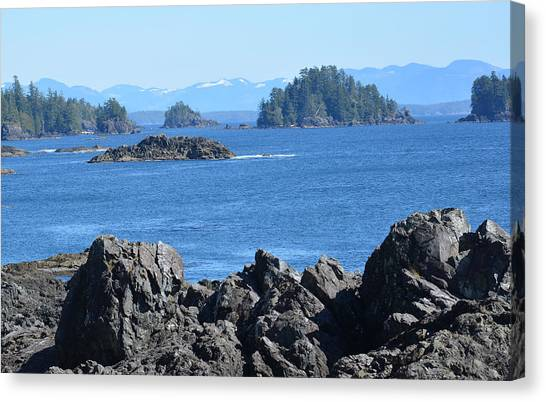 Barkley Sound And The Broken Island Group Ucluelet Bc Canvas Print