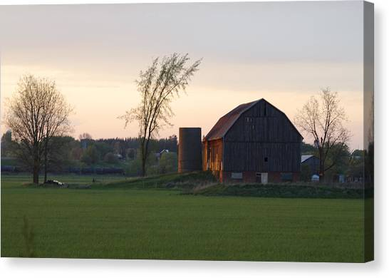 Barn At Dusk Canvas Print