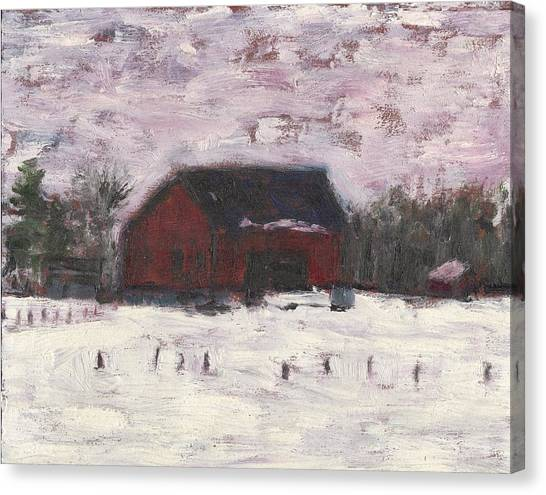 Barn At Myles Acres Canvas Print