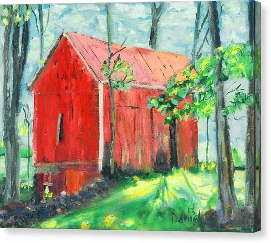 Barn At Walpack Canvas Print