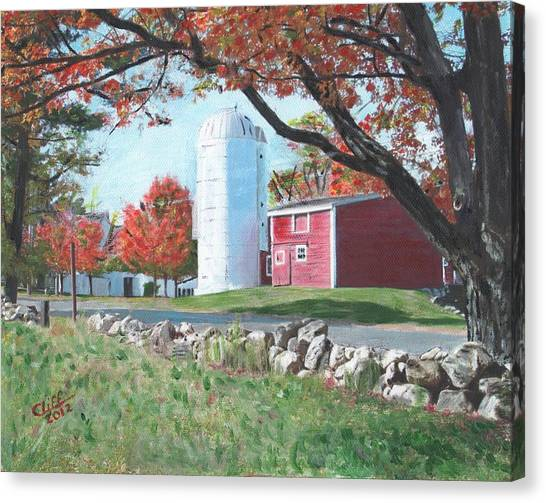 Northeastern University Canvas Print - Barn At Warren Center by Cliff Wilson