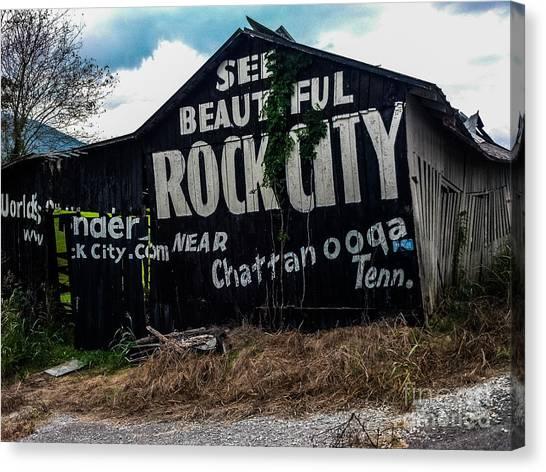 Barn Billboard Canvas Print