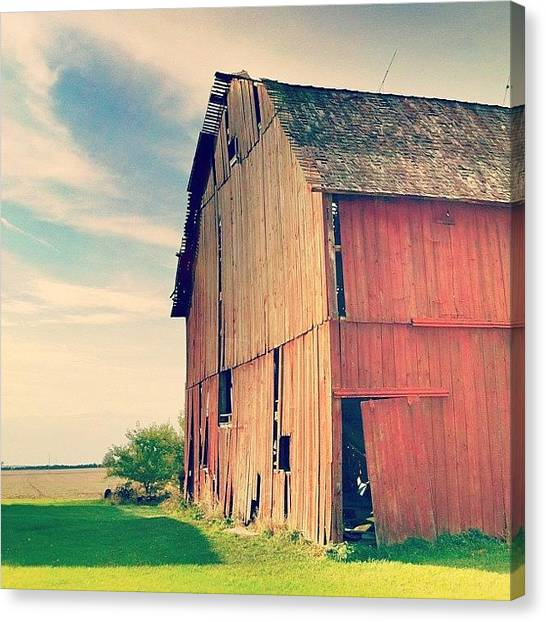 Barns Canvas Print - #barn #country #ohio #igers #instaaah by Eric Shanteau