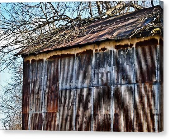 Barn Ghost Sign 1 Canvas Print