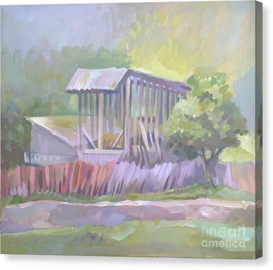 Barn In Agarcia Canvas Print by Filip Mihail