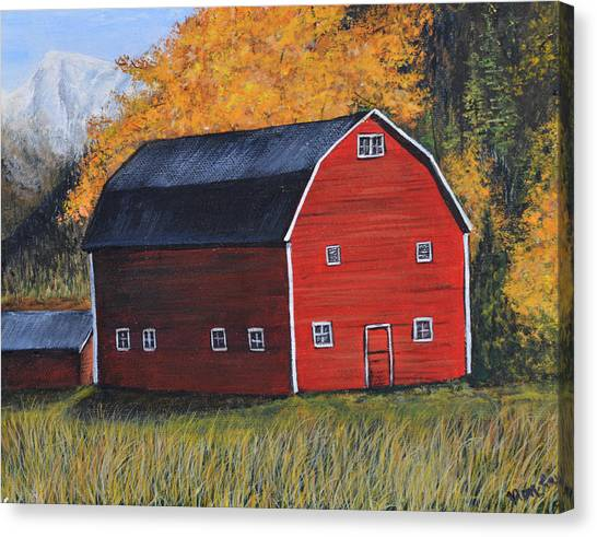 Barn In The Fall Canvas Print