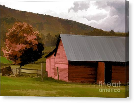 Barn In Vermont Canvas Print