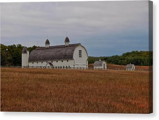 Barn On A Windy Day Canvas Print