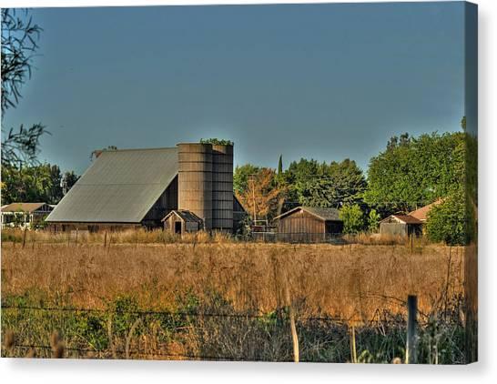 Barn On Interstate 5 Canvas Print