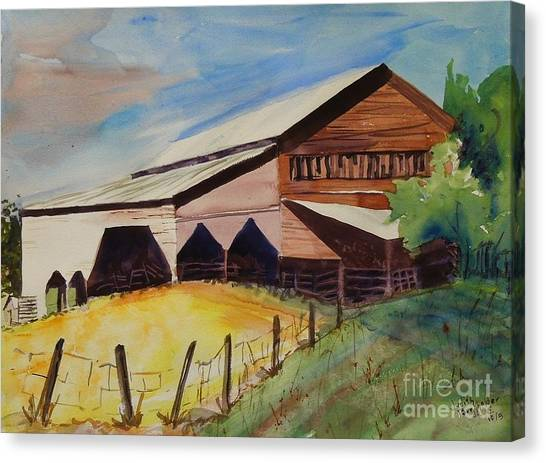 Barn On Rt. 42 Canvas Print by Judith Espinoza
