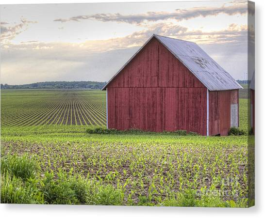 Barn Perspective Canvas Print by Kent Taylor
