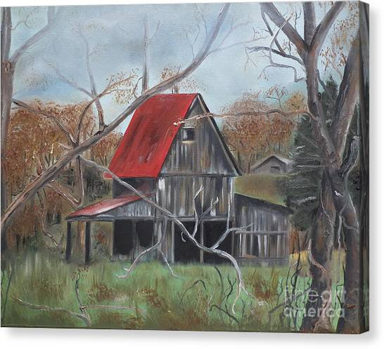 Barn - Red Roof - Autumn Canvas Print