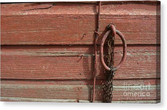 Barn Siding And Hardware Canvas Print