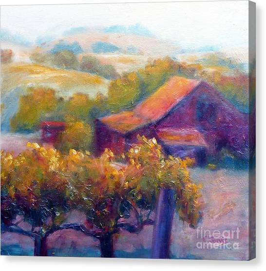 Barn Vineyard Canvas Print