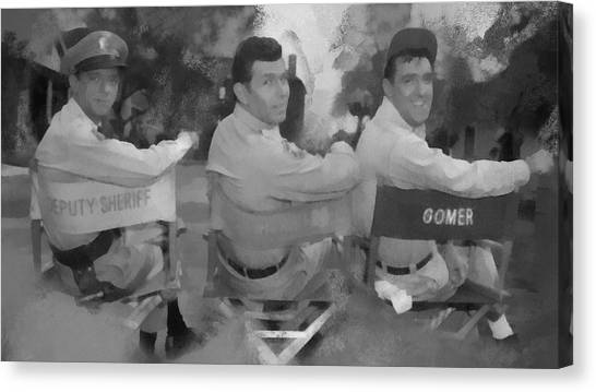 Barney Andy And Gomer Canvas Print