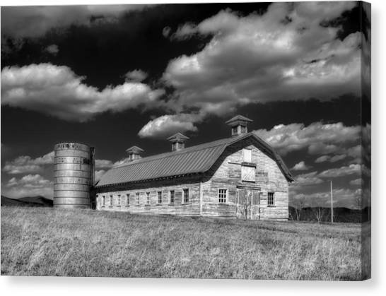 Timeworn Canvas Print - Barns Are Beautiful II Bw by Steve Hurt