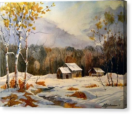 Barns On Canoe Lake Road Canvas Print
