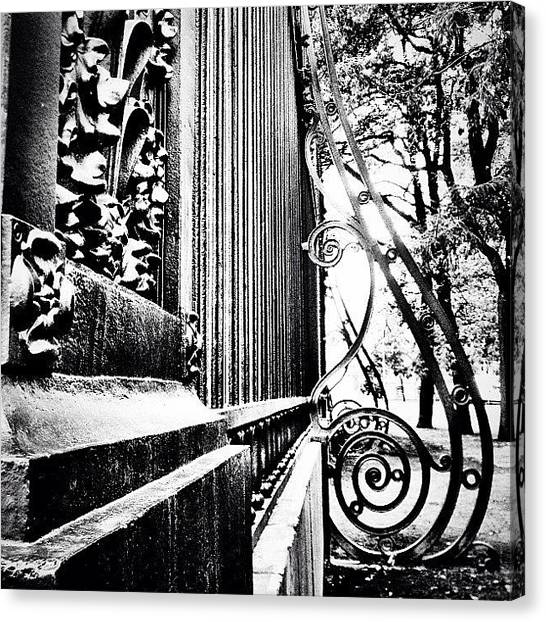 Baroque Art Canvas Print - #baroque #architecture #bw #noir #spb by Max Lolinberg