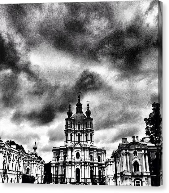 Baroque Art Canvas Print - #baroque #architecture #church #sky by Max Lolinberg