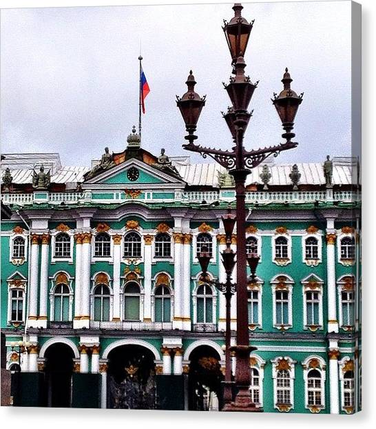 Baroque Art Canvas Print - #baroque #architecture #museum #lantern by Max Lolinberg
