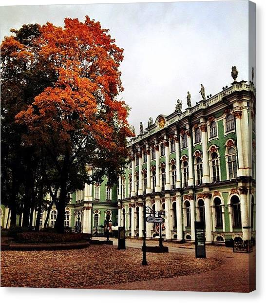 Baroque Art Canvas Print - #baroque #architecture #museum #spb by Max Lolinberg