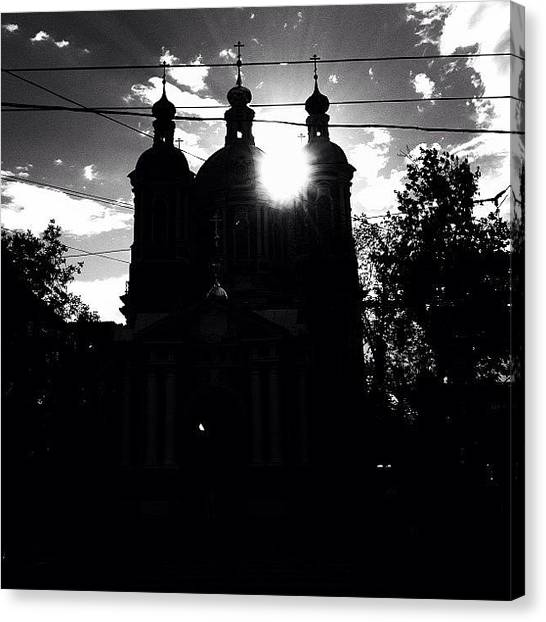 Baroque Art Canvas Print - #baroque #architecture #sun #bw #noir by Max Lolinberg