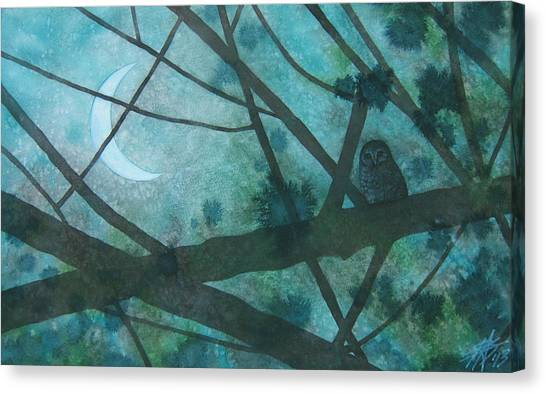 Barred Owl Moon Canvas Print