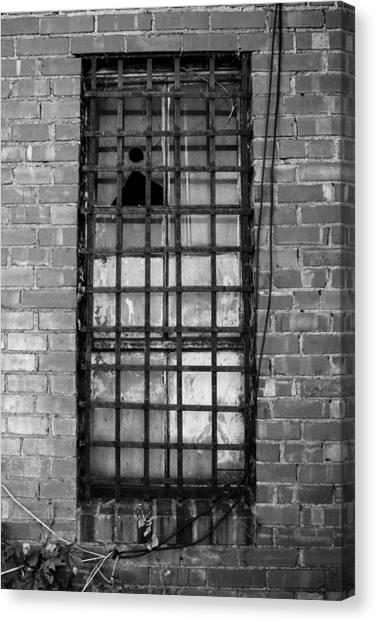 Barred Window Canvas Print