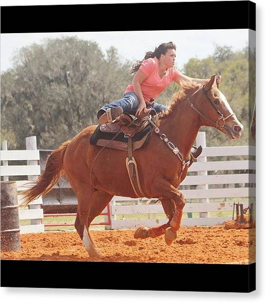 Rodeos Canvas Print - #barrelrace #barrelracer #all_shots by Lisa Yow