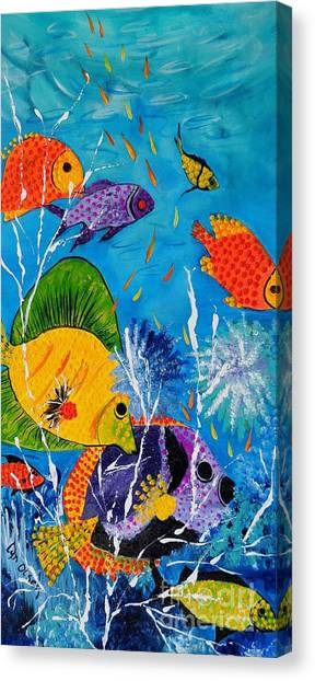 Barrier Reef Fish Canvas Print