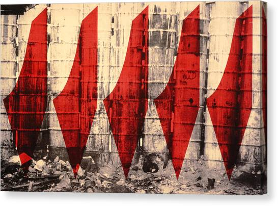 Israeli Canvas Print - Barriers To Statehood, 1992 Screen Print On Canvas by Laila Shawa