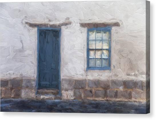Southwest Canvas Print - Barrio Historico Tucson Painterly Look by Carol Leigh